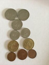 Job Lot Of 10 Greek Greece Drachma Coins Mixed Dates Mixed Condition Dh5