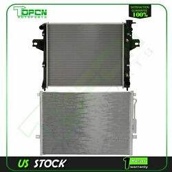 Fits 1999-2000 Jeep Grand Cherokee Replacement Radiator And Condenser Assembly