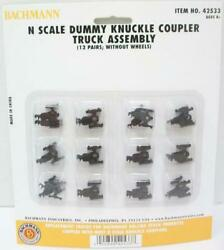 Bachmann Trains N Scale Dummy Knuckle Coupler Truck Assembly Item 42533