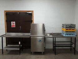 Classeq Hydro 857 Passe Andagrave Travers Commercial Lave-vaisselle + 2 Tables And