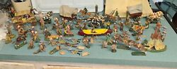 Elastolin Composition C.1930s Cowboys And Indians 60mm Toy Soldier Figure Lot Wow