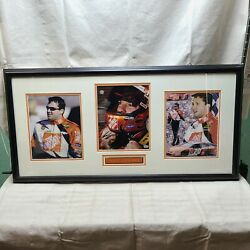 Tony Stewart Home Depot Autographed Framed Picture W/ Authenticity Certificate