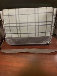 Coach Bag Messenger Men#x27;s Large bag brown gray color of 14x12x3 inches. $120.00