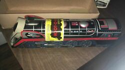 Vintage 1950 Toy Tin Silver Streak Train Tm Toy Made In Japan All Original New