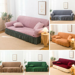 1 2 3 4 Seater L-shape Sofa Full Cover Elastic Slipcover Settee Couch Protector