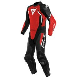 Dainese Avro D2 2tlg. Leather Suit Schwarz-lava Red-white Size 58