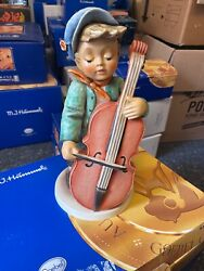 Hummel Figure 2186/iii To Dance Bass Violinist 13in 1 Choice Incl. . Top State