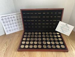 Coins Total Set 50 Gold Highlighted State Quarters Collection 1999-2008 W/ Coa