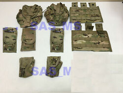 Army Issued Lot Of 9 Multicam Ocp Rifleman Set Molle Pouches Set Nip