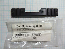Factory Cz 452 3/8 Dovetail To Picatinny Scope Mount Rail Base 19009