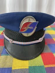Awesome Greyhound Drivers Hat/cap With Badge.