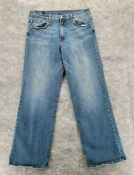 Lucky Brand Transit Jeans Size 34 Menand039s Blue Denim Measures 33x30.5