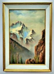 Canadian Vintage Oil Painting Antique Canadian Rockies Unknown