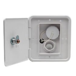 Heavy Duty Gravity Water Inlet Fill Dish + Keys For Marine Campers Rv White