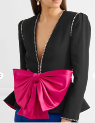 Crystal Bow Blazer Jacket-with Tags- Rrp6200 Aud