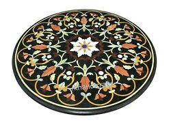 24 Inches Luxurious Pattern Inlay Coffee Table Top Marble Sofa Table Home Decor