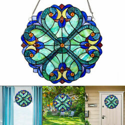 Wholesale 10inch Vintage Colorful Stained Glass Window Panel Suncatcher Decor