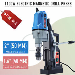 1.5hp Electric Magnetic Drill Press Max 2in Depth 1.6in Dia Magnet Force Tapping