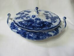 Vintage Flow Blue China Kenworth Cover Cassole By Johnson Brothers England