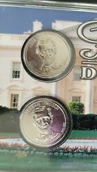 Thirty-three Presidential Dollar Series Two- 1 Coin Sets- Platinum Series