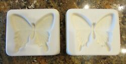 Lot Of 2 - Butterfly Frit Glass Casting Mold 6 X 5.5 Fusing Supplies Ceramic
