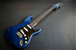 Used Combat St Blue Matching Head Electric Guitar Free Shipping