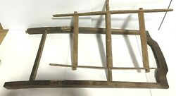 Misc. Components Of Antique Wooden Yarn Winder/spinner