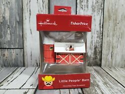 New Hallmark Fisher Price Little People Christmas Ornament Red Barn Rare 2018