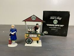 Department 56 Starbucks Coffee Cart Christmas Village With Box Retired Vintage