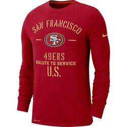 New Nike San Francisco 49ers Salute To Service Sideline Performance Long T-shirt
