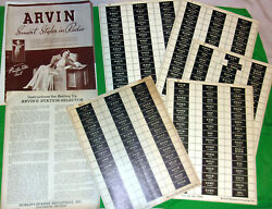 Nice Lot Arvin Radio Papers Call Letter Tabs Smart Styles Radio Brochure 1937