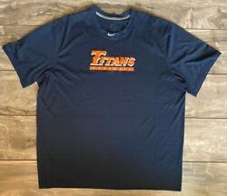 Nike Cal State Fullerton Titans Baseball Team Issued Practice Shirt Menand039s 2xl