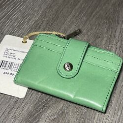 Hobo International Val Leather Wallet in Mint NWT Retail $58 $25.50