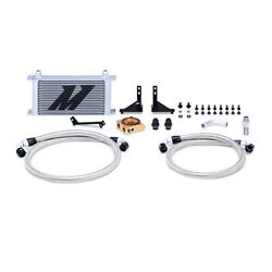 Mishimoto Silver 19 Row Thermostatic Oil Cooler Kit For 2014+ Ford Fiesta St