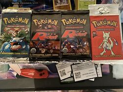 Pokemon 4 Vintage Factory Sealed Booster Packs. Wotc. 2 1st Edition Team Rocket