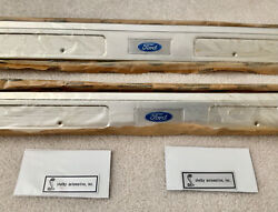 Nos Ford C9zz-6513208-a 1969-70 Mustang Shelby Gt Aluminum Scuff Plates Boss 429