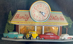 Vintage 1988 Coca Cola Family Drive In Sign Clock Burwood Products 2899 Usa