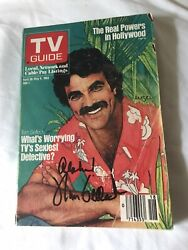 Tom Selleck Autographed Tv Guide Apr 30-may 6, 1983 W/coa Extremely Rare Issue