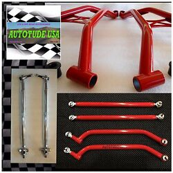 Arched Chromoly A-arms + Radius Bars +hd Tie Rods 2014-2016 Rzrxp 1000 12mm Red