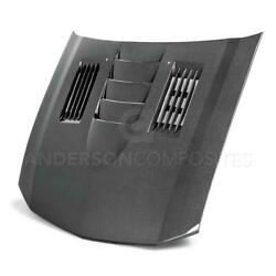 Type-ss Carbon Fiber Hood For 2005-2009 Ford Mustang