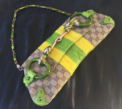 Tom Ford Jewelled Horsebit Snake Bag Ss2004 Large Limited Edition