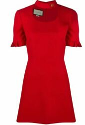 Neck-strap Ruffled Mini Dress- With Tags- Rrp3500 Aud
