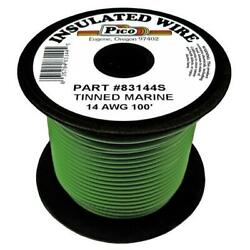 Pico 83144s Green 14 Awg Marine Wire 100 Foot Spool