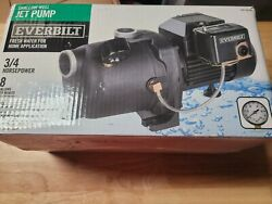 Everbilt Model J200a3 3/4 Hp Shallow Well Jet Pump 8 Gpm Corrosion Resistant