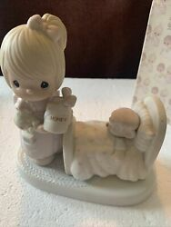Precious Moments Figurine Pm 100102 Make Me A Blessing W Box Mark Flame Vintage
