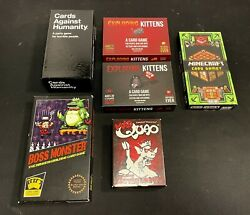 Exploding Kittens + Nsfw Cards Against Humanity Boss Monster Minecraft Mad Quao