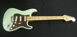 Used Fender Fsr American St Rustic Ash Green Electric Guitar Free Shipping