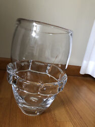 Simon Pearce Pure Middlebury Vase 13 Ht 8 Wide Hand Blown Thick Glass