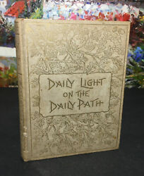 Rare Antique 1800and039s Daily Light On The Daily Path Morning Devotional Book