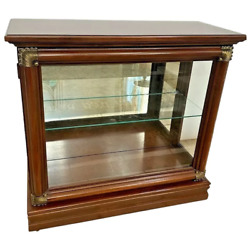 Vintage Console Display Case By Philip Reinisch Side Glass Doors Illuminated